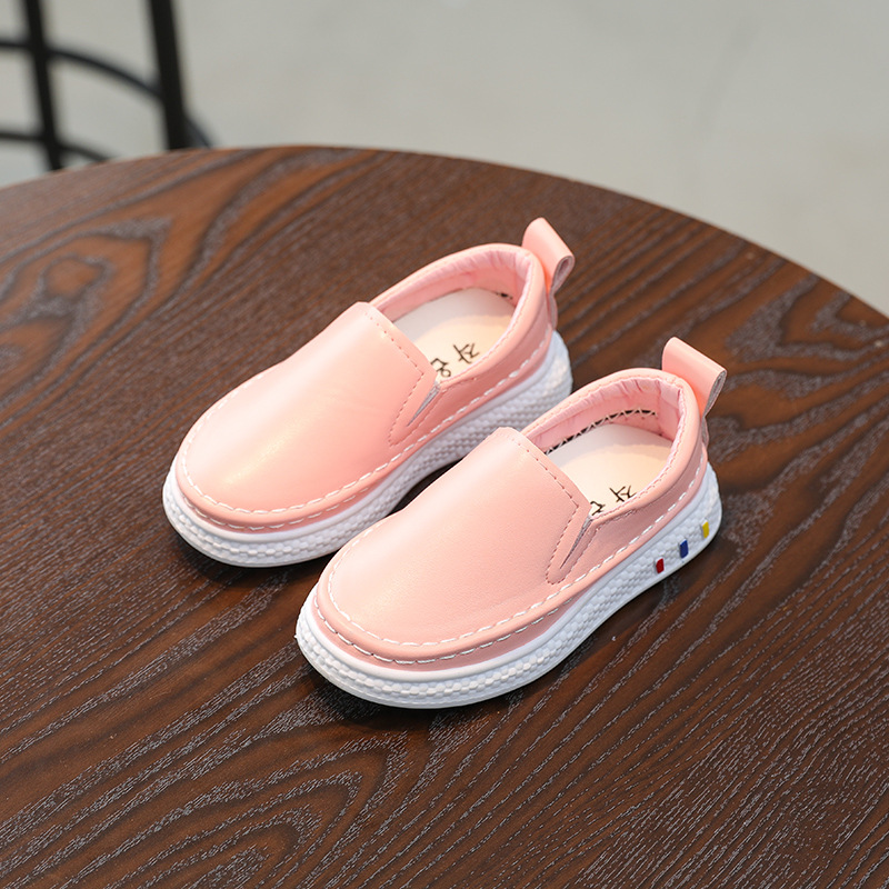 kids sneakers 2017 autumn new fashion pink leather leather waterproof black leisure children shoes boys childrens shoes in Sneakers from Mother Kids