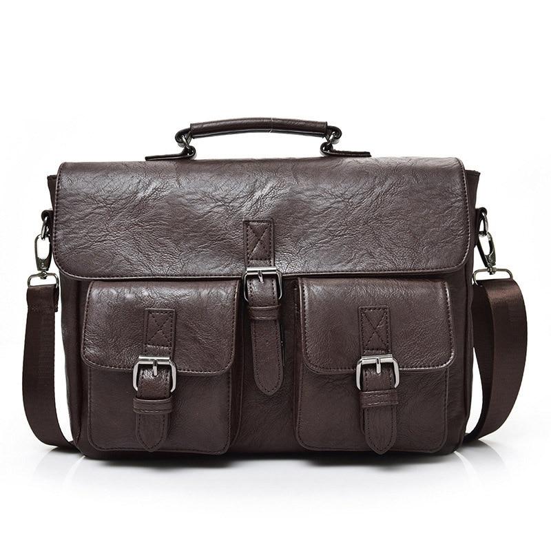 Handbags Man Briefcases Laptop Business Bag-Shoulder 15-Inches Men For Large Travel-Bag
