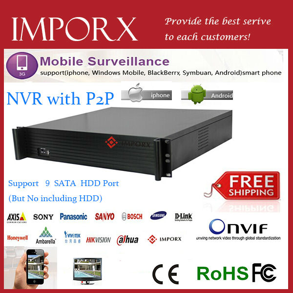 High quality hot selling IMP  NVR 8064K with  9HDD free shipping high quality tr1000 tr2020 900168 26 selling with good quality