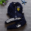 2016 New Style Baby Clothes Sets Long Lleeve Car Print Sets For Infantal Boy Outfit Kids Clothing Spring Fall