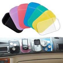 Коврик для приборной панели автомобиля красочный Противоскользящий держатель коврик Силиконовый прочный универсальный держатель для мобильного телефона против скольжения NJ88