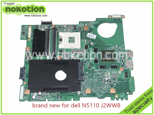 Cn-0j2ww8 placa madre del ordenador portátil para dell inspiron n5110 hm67 ddr3 nvidia gt525m 1 gb graphics core i7 placa base