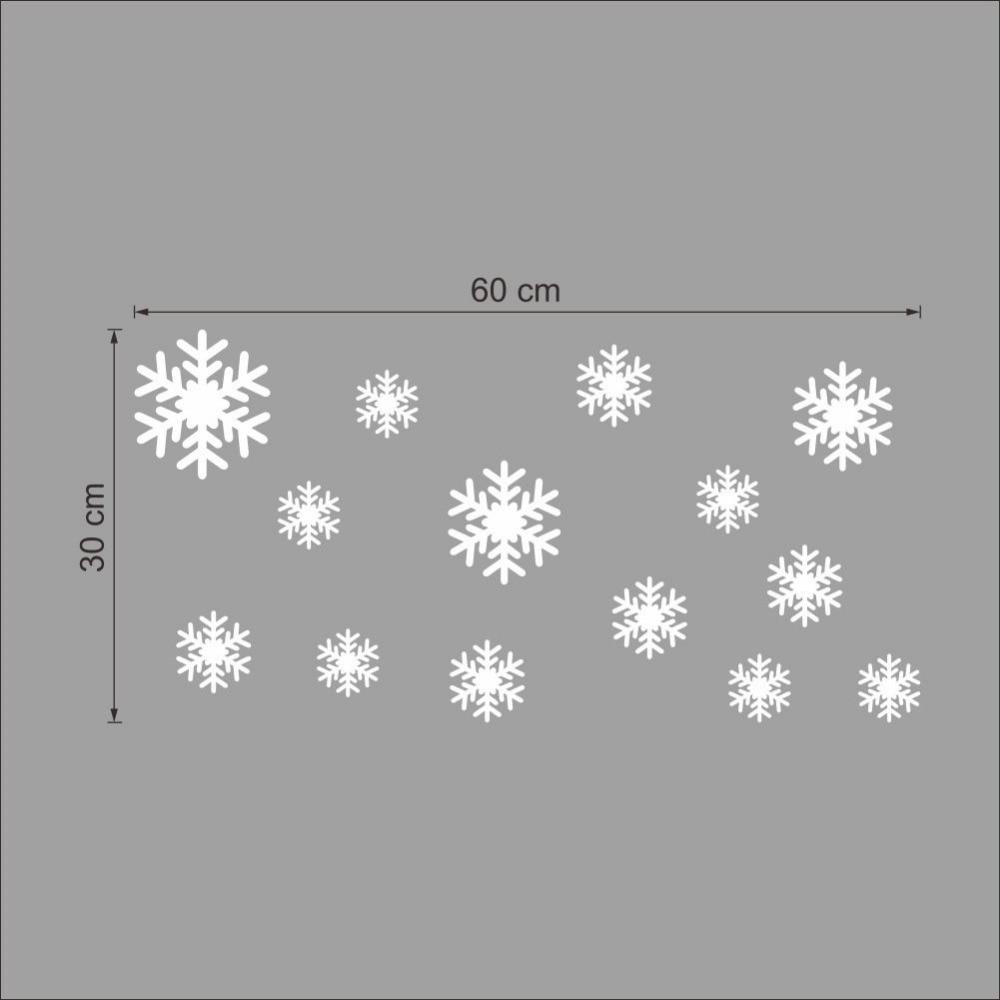 14pcs snow flakes window stickers winter snowflake wall