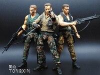 NECA Movie 25th Predator Alien Arnold Schwarzenegger Patrol Dutch Extraction Dutch Jungle Hunter 18cm Toy PVC Figure Model S108