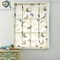 Sinogem Kitchen Short Sheer Curtains Burnout Roman Blinds Butterfly Sheer Panel Tulle Window Treatment Door Curtains