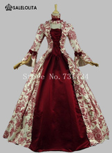 2017 Colonial Victorian Era Dress Gothic Renaissance Medieval Period Gown Costume Reenactment Theatre Clothing Custom-made