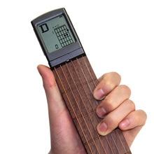 Electric Guitar Practice Tools Portable 6 Tone Pocket Guitar Gadgets Aerial Guitar Finger Exerciser display of Fingering