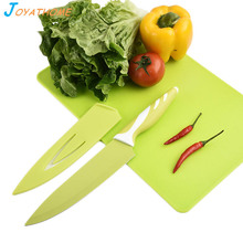 Joyathome 2pcs/Lot Anti-Bacterial Kitchen Cutting Board and Stainless Steel Fruit Knife Tool Set Chef Japanese