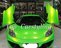 Green gold Gloss Magic color flow Vinyl Car wrap styling shift covering With Air bubble Free PROTWRAPS 1.52x20m 5x67ft