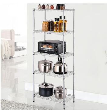 US $76.54 14% OFF|Wire Shelving Unit Storage Rack Metal Kitchen Shelf  Stainless Steel Adjustable 5 Tier Shelves-in Storage Holders & Racks from  Home & ...