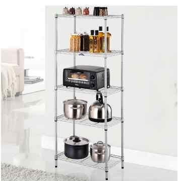 wire shelving unit storage rack metal kitchen shelf stainless steel adjustable 5 tier shelves