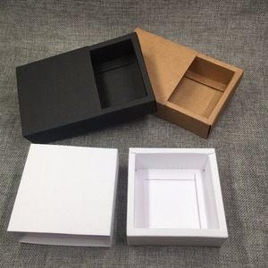 Image 5 - 50pcs Kraft Gift Packing Boxes Blank Paper Drawer Box DIY Storage Boxes for Handmade Soap/Gifts/Crafts/Jewelry/Candy/Cake/Rose