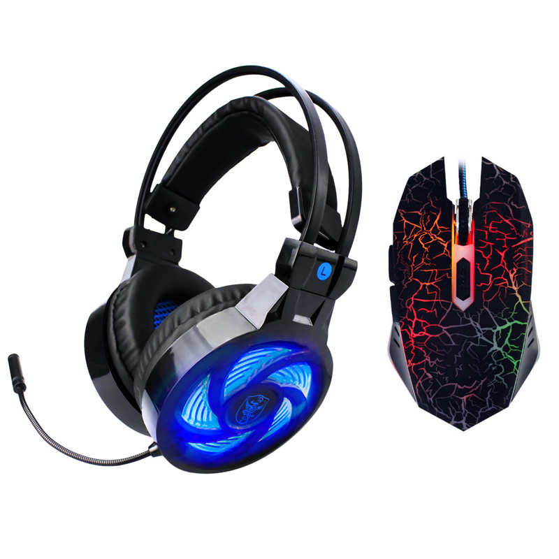 Best PC Gamer casque Soyto PS4 Stereo Hifi Gaming Headphones With Microphone Dazzle Lights Glow Game Music Headset fones