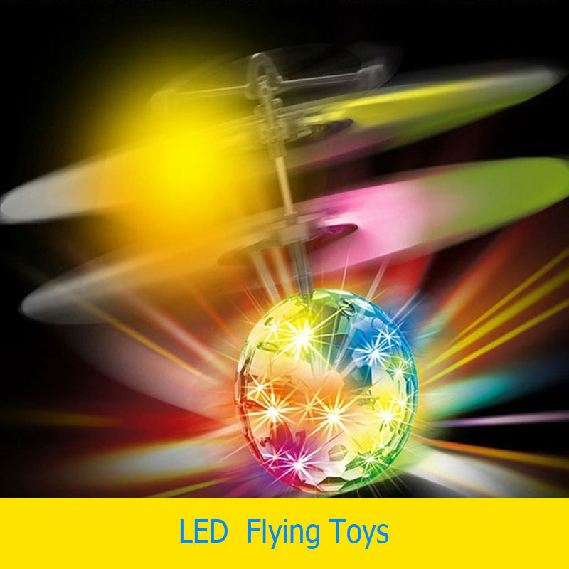 Baru kebaruan menyala mainan, Sensor induksi, Bola dipimpin berkedip terbang mainan listrik untuk anak-anak gadis atau anak laki-laki
