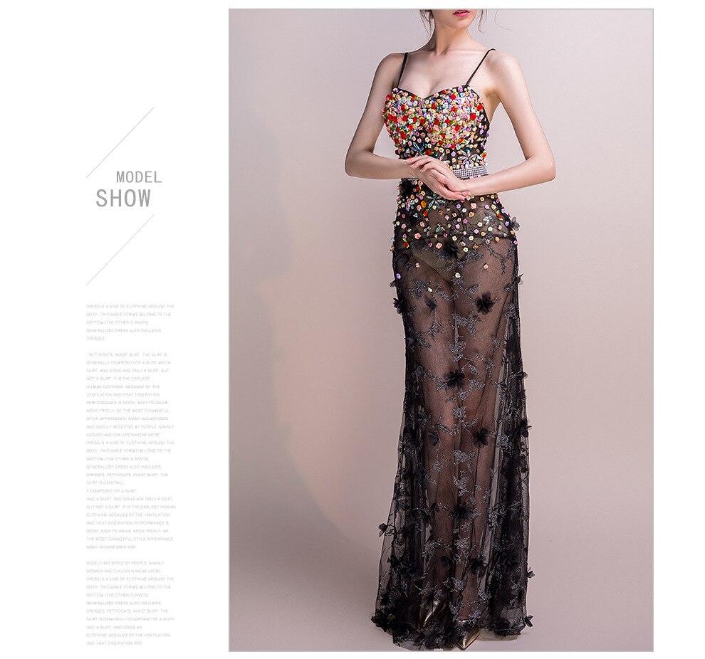 18 Women Dresses Mesh Elegant Party Club Wear Sexy Wrap Summer Long Sweet Floral Nightclub See Through Gothic Lolita Dress 7