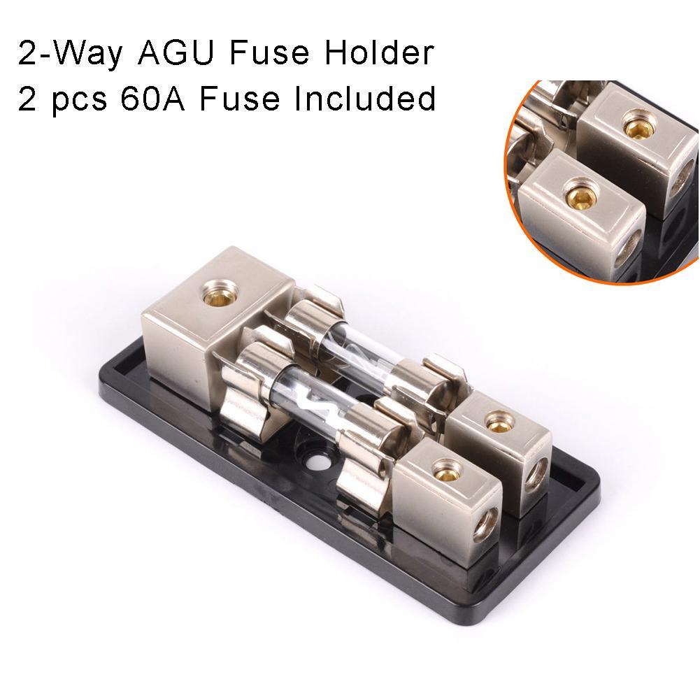 4-Way Car Audio Solar Amp Power//Ground Cable Splitter Distribution Block 4ga Hot
