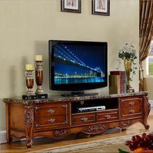 Современная высокая гостиная деревянная мебель мраморный ЖК-телевизор стенд o1148