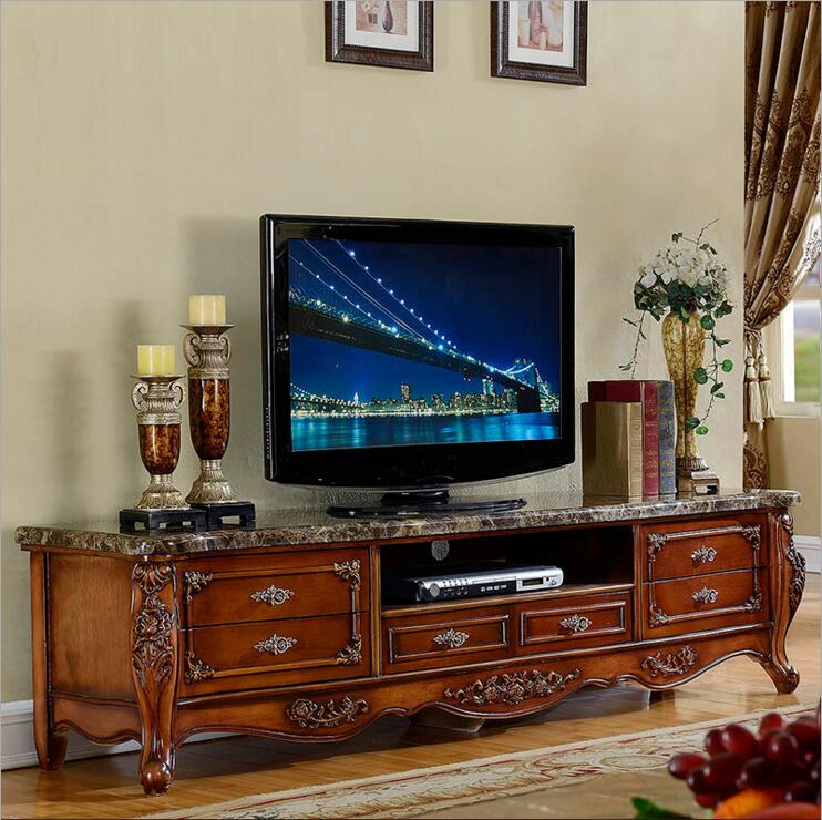 Modern High Living Room Wooden Furniture Marble Lcd TV Stand O1148