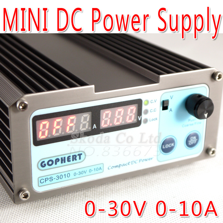 Free shipping precision digital adjustable DC Power supply CPS3010 30V10A With OVP/OCP/OTP DC power 0.01A 0.1V cps 6003 60v 3a dc high precision compact digital adjustable switching power supply ovp ocp otp low power 110v 220v