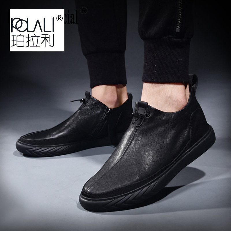 Shoes Male Men Loafer Spring Cowhide Breathable Men's Genuine-Leather All-Match Summer