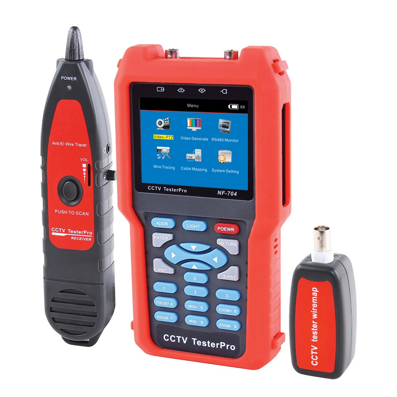 Digital CCTV Monitor Tester with Trace and locate Portable CCTV LCD Monitor Tester NOYAFA NF-704 number