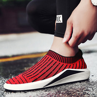 MOZOEYU Flyknit Sock Shoes Running Shoes For Men Sports Breathable Men S Athletic Sneakers Soft Barefoot