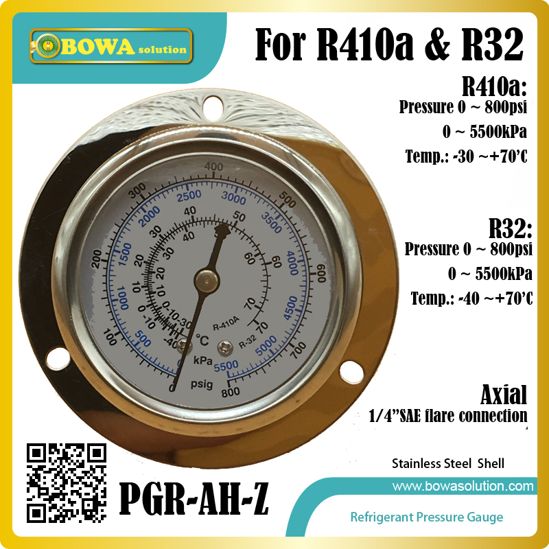 High pressure HFC refrigerant Pressure Gauge for R410a and R32 gas installed in Heat pump, dry chamber & water temperature units 11kw heating capacity r410a to water and 4 5mpa working pressure plate heat exchanger is used in r410a heat pump air conditioner