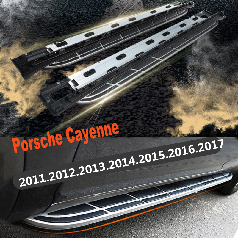 For Porsche Cayenne 2011-2017 Car Running Boards Auto Side Step Bar Pedals High Quality Brand New Nerf Bars