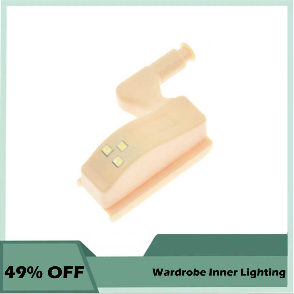 0.25W LED Under Cabinet Light Wardrobe Light Sensor Led Inner Loop Hinge Lamp For Cupboard Closet Kitchen Bedroom Night Lighting