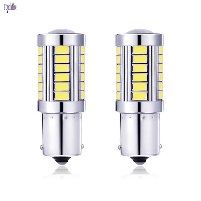 LED Car Bulb 1156 1157 BA15S BAY15D P21W 5W Canbus 5630 SMD Error Free Auto Brake Reverse Light for ford focus Skoda VW Touran carsty 2pcs strobe p21w ba15s 1156 bay15d 1157 p21w 33 smd led 5630 5730 car brake bulbs lights reverse daytime lamps red yellow