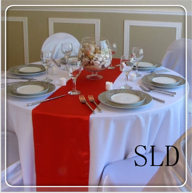 Free Shipping 36pcs 12 X108 Dark Red Table Runner For Home Round
