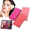 1Pc Hot Fashion Colours Eye Shadow Blusher Lipstick Palette Makeup Kit Professional Box Leather Bag