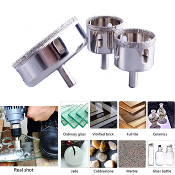 цена на 1Pcs Glass Diamond Drill Bit Set 4-30mm Diamond Tools Hole Saw Use for Glass, Marble, Tile or Granite Factory Outlet