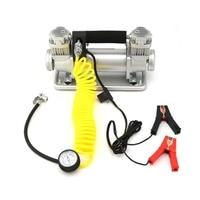 Double Cylinder Car Air Compressor Low Noise Car Tire Inflatable Pump 12V 150PSI High Pressure Inflator Pump With Handbag J20C22