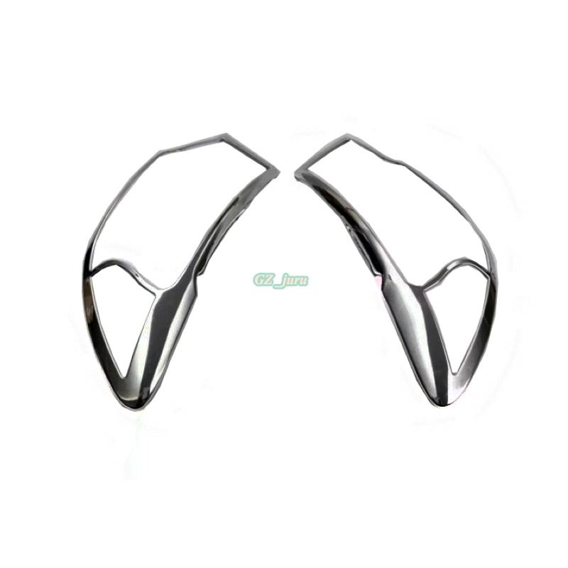 Car Styling New 1Pair Chrome Front Headlight Head Lamp Light Cover Trim Molding For 2017 2018