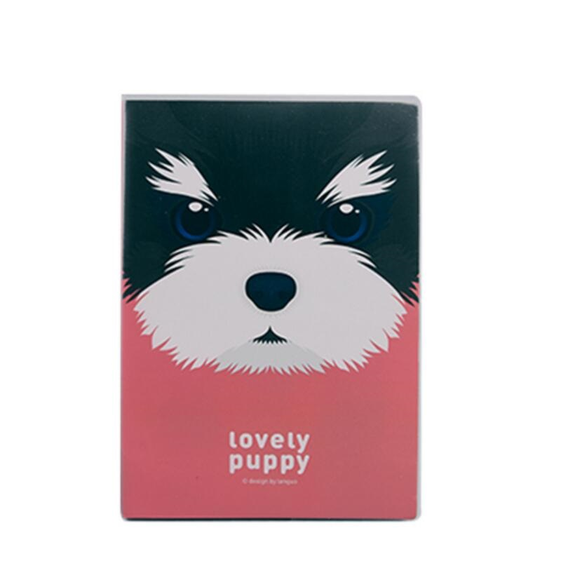 A5 Plastic Cover Notebooks Lovely Puppy School Book Diary Drawing Cute Design Cuaderno 206*142mm, 80 sheets/ 160 pages варежки gulliver варежки