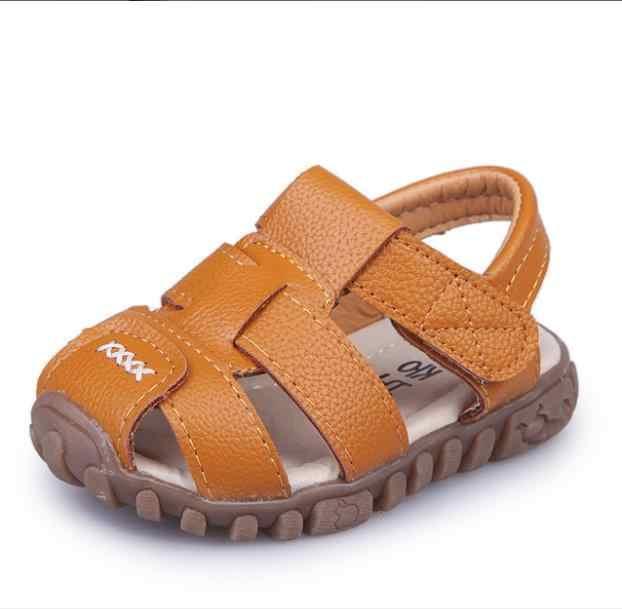 Новый стиль; модные повседневные сандалии для мальчиков и девочек; детская обувь; Нескользящие Детские сандалии; брендовые летние туфли в морском стиле; цвет белый, черный