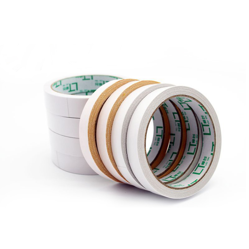 Double-sided nastro biadesivo doble cara cinta branco washi tape scrapbooking papel 2 pçs/lote adesivo escolar escritório fita dupla