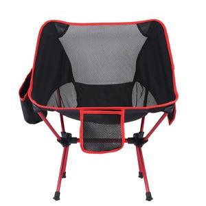 Image 5 - Strand Stuhl Angeln Beweidung Camping Ultraleicht Klappstuhl Im Freien Möbel 7075 Al Oxford Stoff Max 150 kg Moderne Mond Stuhl