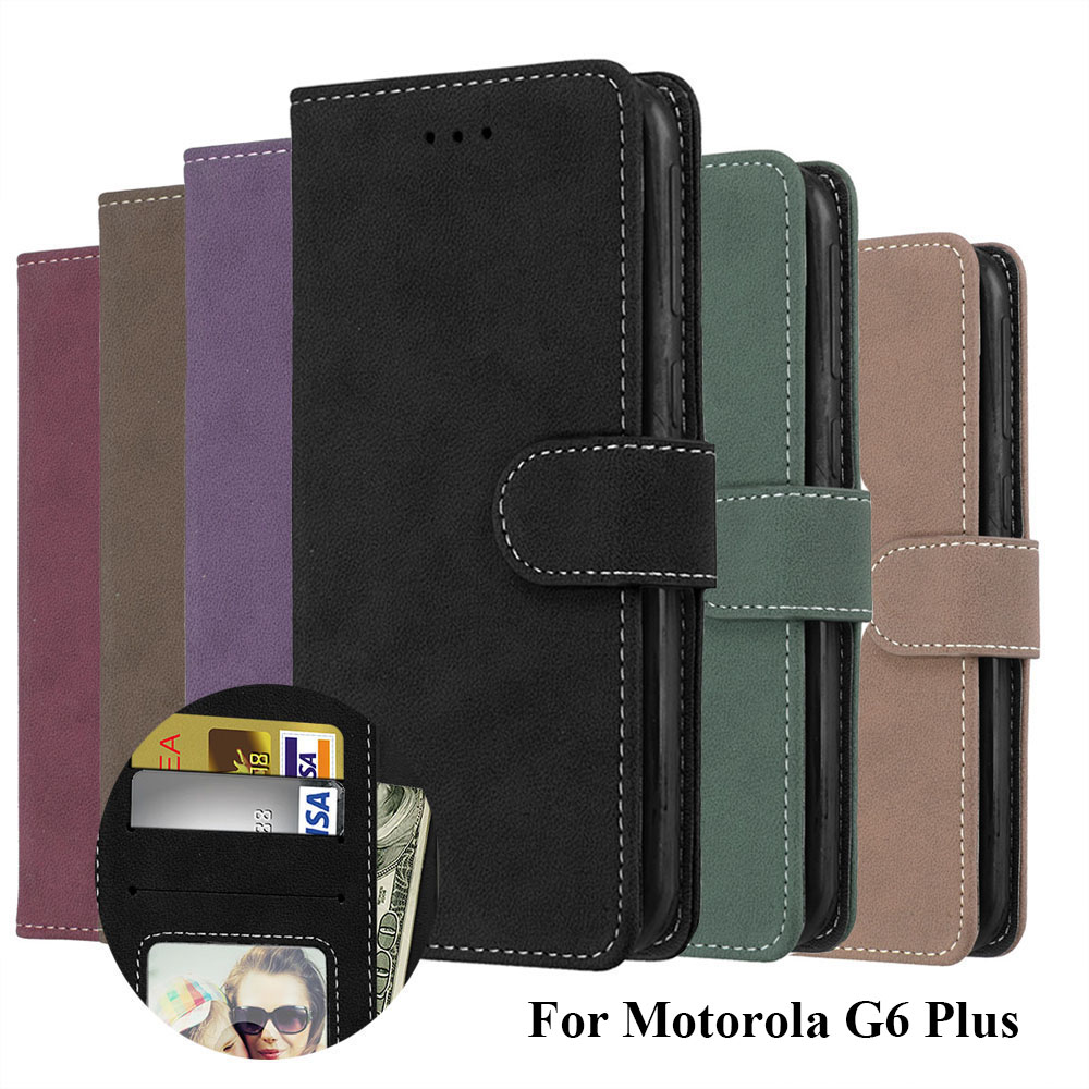 LUCKBUY for Motorola G5s Plus Wallet Case For Moto G6 Phone Bags PU Leather XT1806