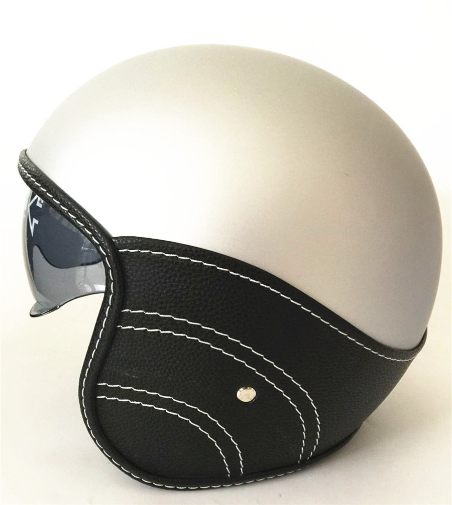 Motorcycle Helmet Vintage Open Face Jet Scooter Helmets Universal Retro Motorcycle Helmet Goggles For Harley DOT approved