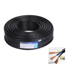 10 м 3pin водонепроницаемый Электрический кабель питания, 18 AWG 0,75 кв мм удлинить ПВХ провода, для водонепроницаемый разъем Прожектор газон сад
