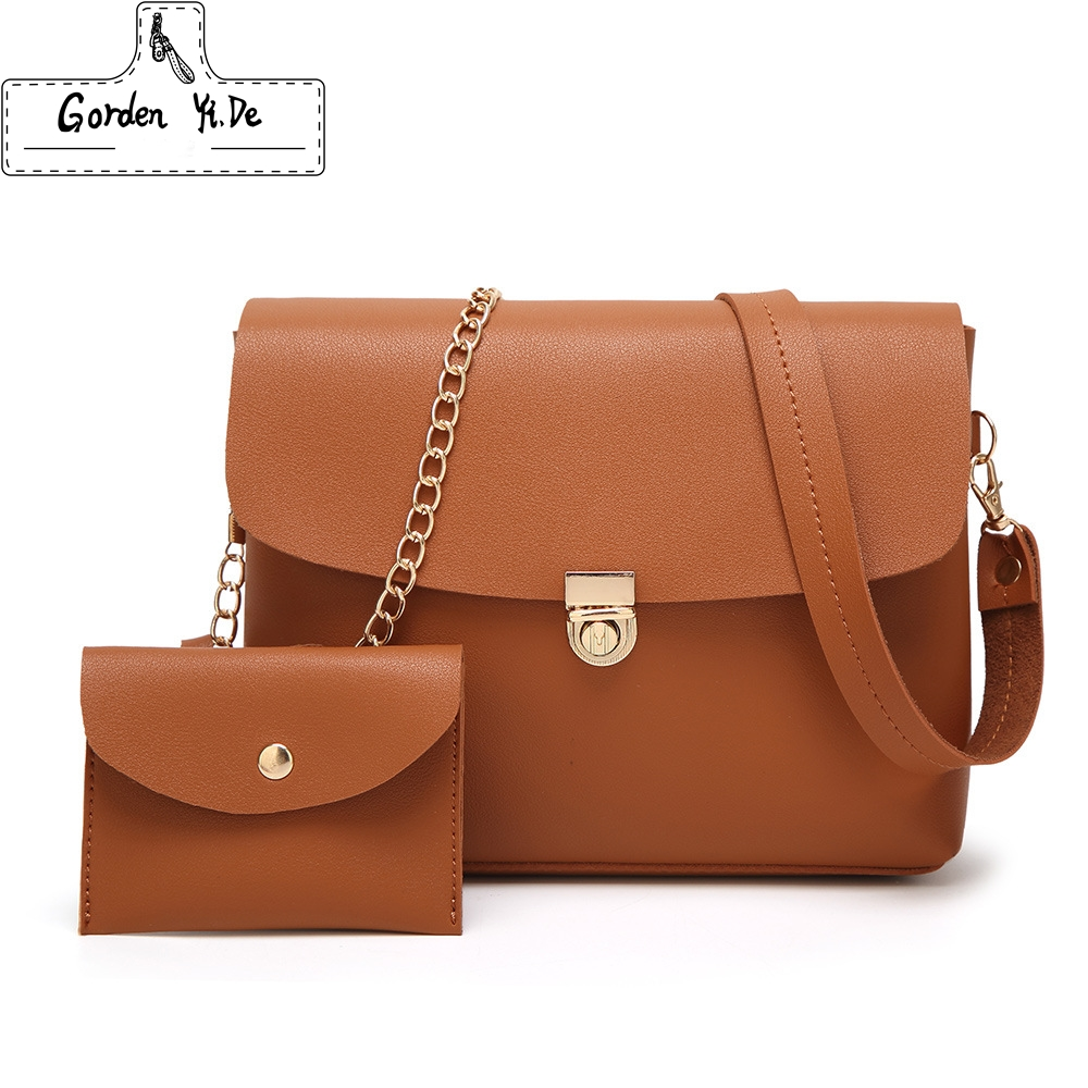 2 Pcs Women Shoulder Bag Purses Handbag Women Messenger Bags For Lady Crossbody Bag Sac A Main Composite Bags Clutches white women bag purses and handbags sac a main femme fashion genuine leather shoulder bags 2016 hollow out lady composite bag