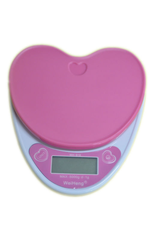 5KG 1g Love Heart Kitchen Scale 5000G Precision Electronic Digital  Laboratory Food Scales Weight Balance 2 Colors Pink Purple  In Weighing  Scales From Home ...