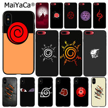 MaiYaCa Anime naruto logo Custom Photo Soft Phone Case for iPhone X XS MAX 6 6S 7 7plus 8 8Plus 5 5S XR(China)
