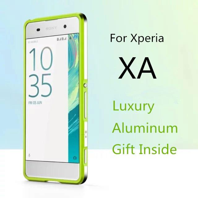 bilder für Für Fundas Xperia XA fall Luxus Deluxe Ultra Thin aluminium Bumper Für Sony Xperia XA + 2 Film (1 Front + 1 Hinten)