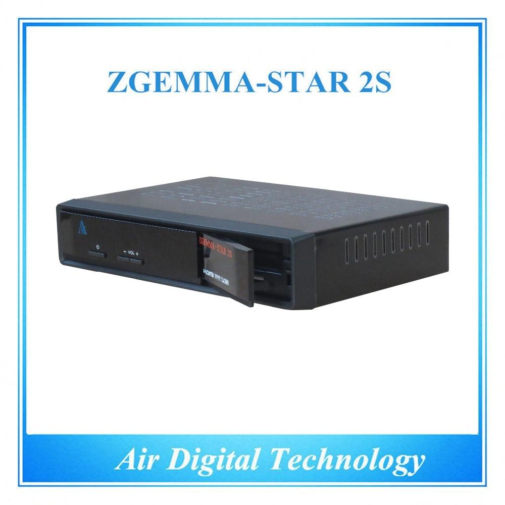 10 pcs/lot HD DVB S2 DVB S with IPTV box twin tuner satellite receiver free to air no dish Zgemma-star 2S azbox premium hd plus twin tuner receiver 2 dvb s2 tuner