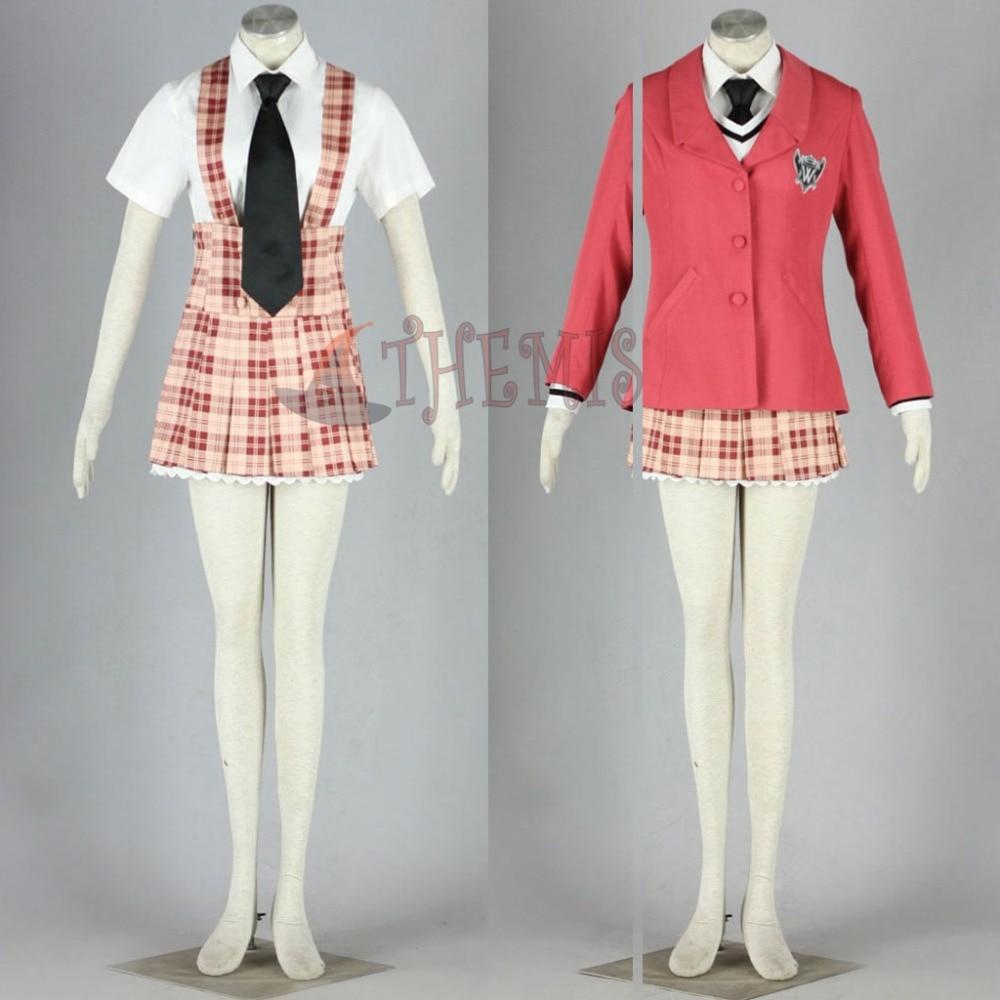 Athemis Anime Cosplay Axis Powers Hetalia Cosplay Costume Unique Tartan Design Braces Dress School Uniform White Shirt Short