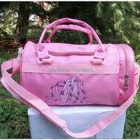 Free Shipping Embroidered Pink Pointe Shoes Big Women Kids Girls Handbag Shoulder Dance Ballet Bag Gymnastics