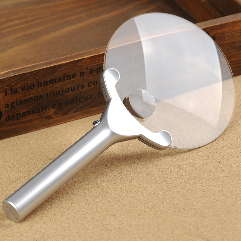 1PC 3x 130mm 6x26mm Handheld Acrylic Lens Illumination Hand Magnifier Magnifying Glass Loupe with 2 LED Lights  цены